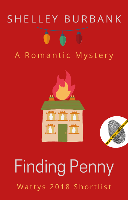book cover with house on fire